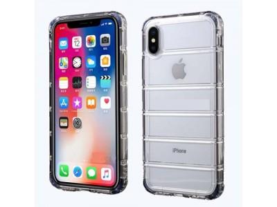 جراب ظهر ايفون اكس شفاف مضلع ضد الصدمات - iphone x