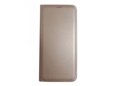 جراب محفظه وش وظهر ذهبي لهاتف سامسونج جلاكسي - S9