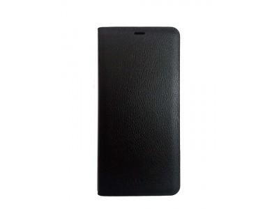 جراب محفظه وش وظهر أسود لهاتف سامسونج جلاكسي - A8 Plus