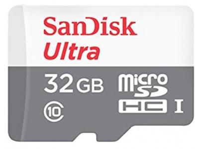 SanDisk Ultra 32 GB Class10 MicroSD Memory Card
