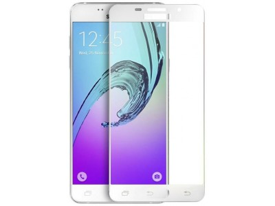 Galaxy A7-2016 Full Glass Screen Protector-white
