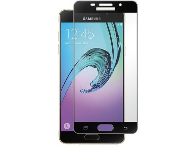 Galaxy A7-2016 Full Glass Screen Protector-black