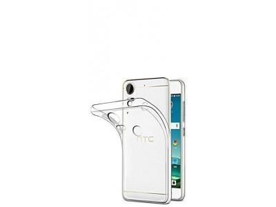 جراب ظهر شفاف مرن لهاتف  - HTC  Desire 10 Pro