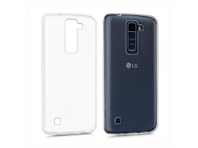 جراب ظهر شفاف مرن لهاتف  - LG K8