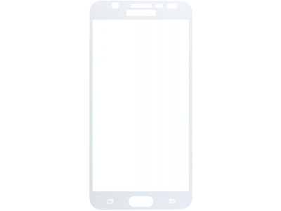 Galaxy J7 Prime Full Glass Screen Protector -white