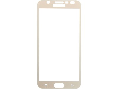 Galaxy J7 Prime Full Glass Screen Protector -gold