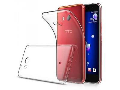 جراب ظهر مرن شفاف لهاتف اتش تى سى يو 11 - HTC U11