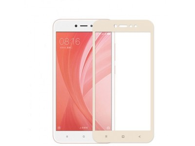 Glass Screen Protector For Xiaomi Redmi Note 5A  Gold