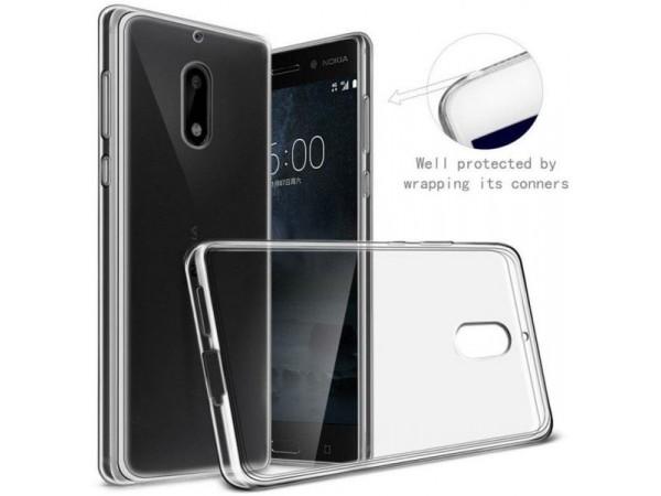 جراب ظهر شفاف مرن لهاتف - Nokia 6