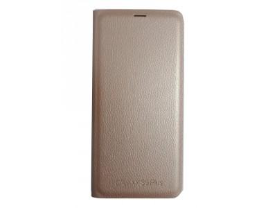 جراب محفظه وش وظهر ذهبي لهاتف سامسونج جلاكسي - S9 Plus
