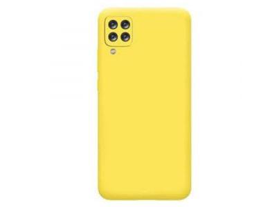 جراب ظهر اصفر  من السيليكون لهاتف سامسونج جالكسي ايه 12 - Galaxy A12