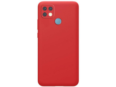 جراب ظهر احمر من السيليكون لهاتف اوبو ايه 15 - Oppo A15