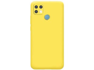 جراب ظهر اصفر  من السيليكون لهاتف اوبو ايه 15 - Oppo A15