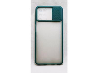 جراب ظهر باطار اخضر مع غطاء حماية للكاميرا لهاتف سامسونج جالكسي ايه 12 - Galaxy A12