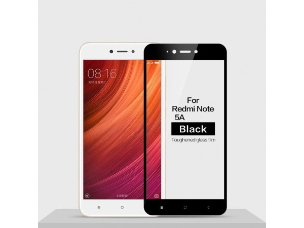 Glass Screen Protector For Xiaomi Redmi Note 5A black
