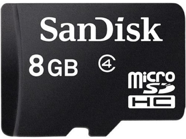 SanDisk 8 GB Class 4 MicroSD Memory Card