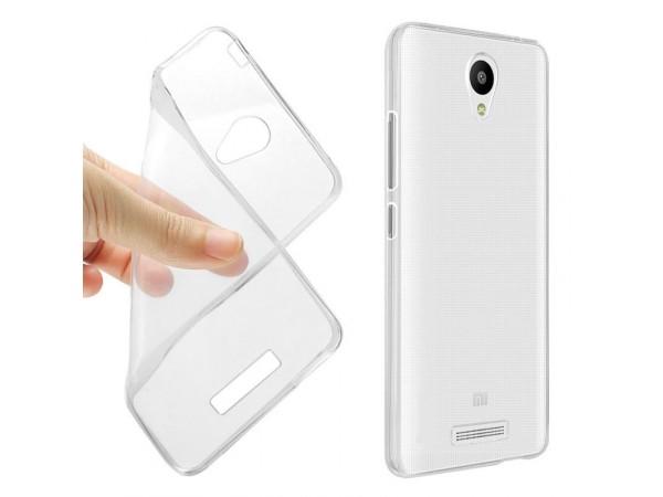 جراب ظهر شفاف مرن لهاتف شاومي - Redmi Note 2