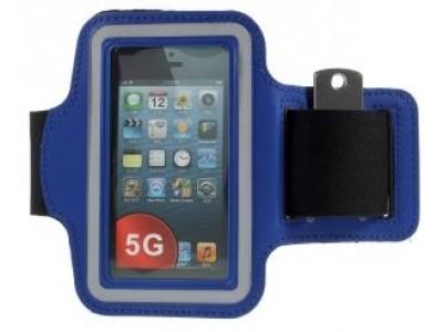 جراب كتف حامل هاتف على الذراع - ازرق