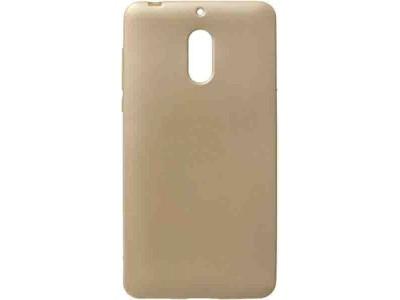 جراب ذهبي سيلكون لهاتف نوكيا 6 - Nokia 6