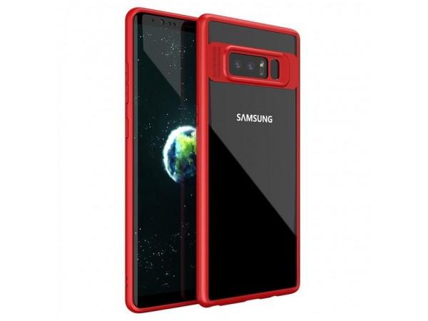 جراب ظهر فاخر احمر لهاتف سامسونج جلاكسى نوت 8 Note 8