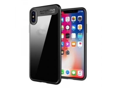 Transparent Back Cover for iPhone X  -  BLACK