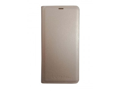 Flip Cover Gold for Samsung A8 Plus