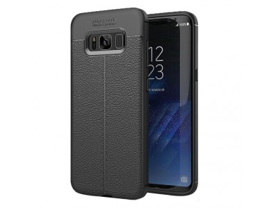 TPU Rubber Hybrid Leather Back Case Cover For Samsung Galaxy S8