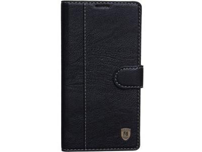 FLIP COVER CASE FOR HTC U ULTRA - black leather