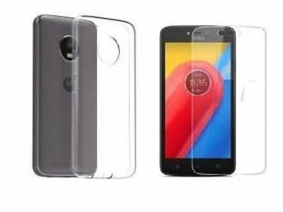 Glass Screen Protector With Clear Back Cover for Motorola Moto E4 Plus