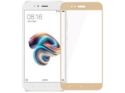 Xiaomi Mi A1 Full Glass Screen Protector gold