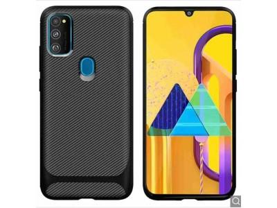 Back cover Silicon  Carbon Fiber For Samsung Galaxy M30S - Black