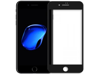 iPhone 7 plus 5D Glass Screen Protector Black