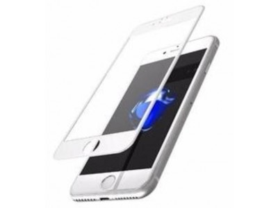 iPhone 7 plus 5D Glass Screen Protector White