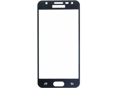 Galaxy J7 Prime Full Glass Screen Protector -black