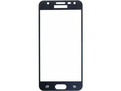 Galaxy A7-2017 Full Glass Screen Protector Black