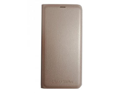 Flip Cover Gold for Samsung S9 Plus