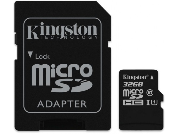 Kingston 32 GB Class 10 MicroSD Memory Card