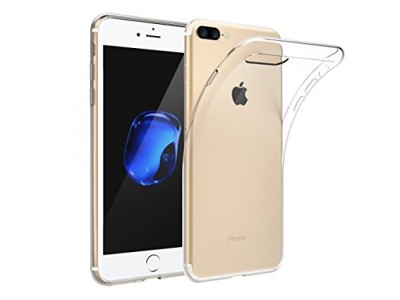 iPhone 8 Plus Transparent Back Cover Case Solid Color Soft TPU