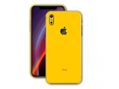 Slim Hard Back Cover Case for Apple iPhone X - Yellow