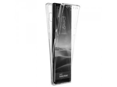 Full Cover 360 Protection Samsung Galaxy Note 8 Case - Clear